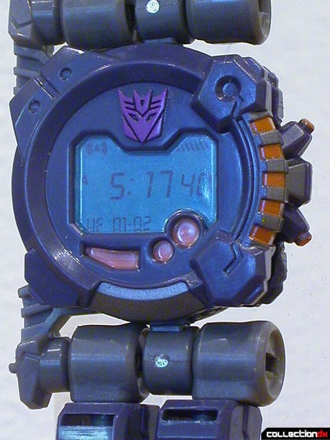 Decepticon Meantime- disguise mode (watch face display detail)