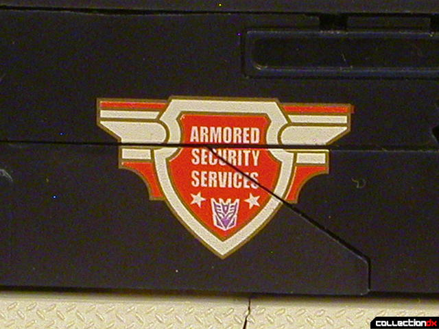 Decepticon Payload- vehicle mode (A.S.S. logo detail)