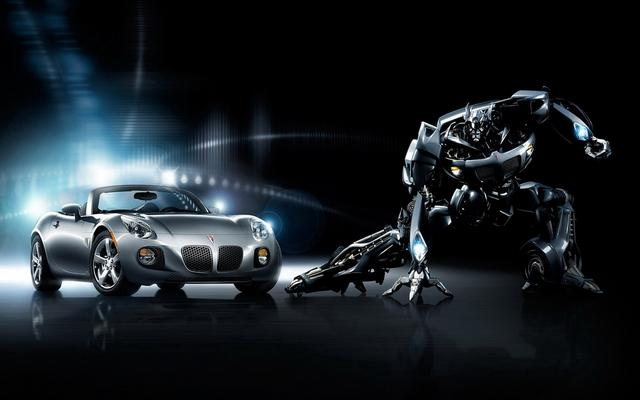 Autobot Jazz promo poster (both vehicle and robot modes)