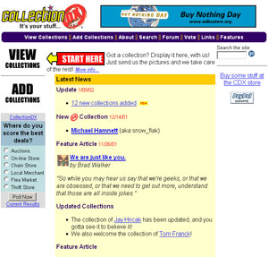 CollectionDX.com, circa 2001