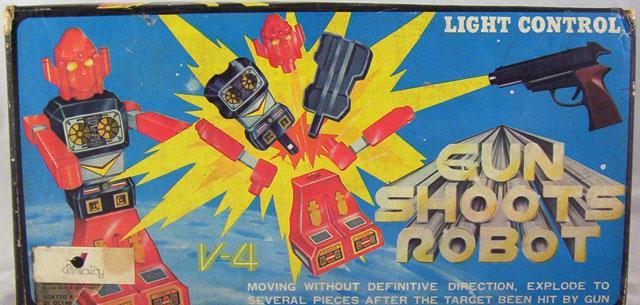 Gun Shoots Robot