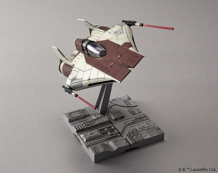 A wing starfighter model kit from Bandai