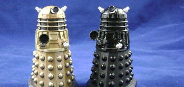 "Doctor Who Dalek Figure Bronze Gold Metal Die Cast Model UK Exclusive 5/"" New"
