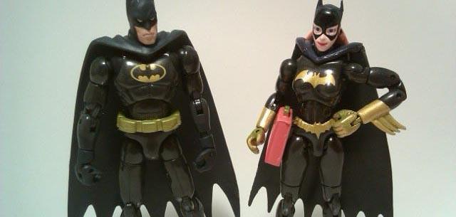 Microman Batman and Batgirl
