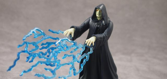 Emperor Palpatine with Force Lightning