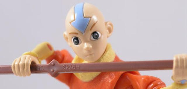 "Avatar the last airbender Airbending Aang 5/"" action figure Glider Water Series"