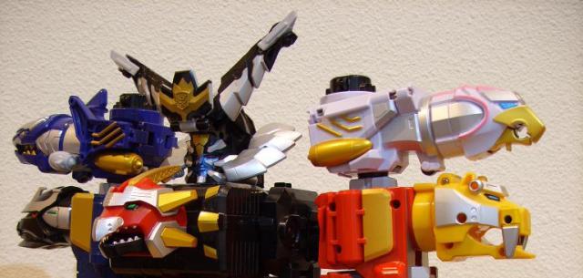Bandai Power Rangers Goseiger Gosei Header Skyick Skyic Brother Set