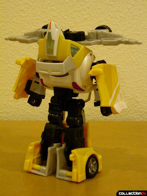 Autobot Bumblebee- robot mode, with Wave Crusher attached (back)
