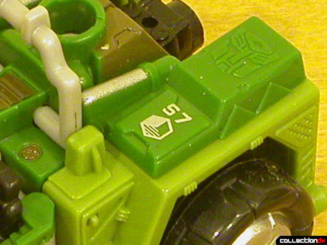 Autobot Strongarm- vehicle mode (close-up, Sector-7 logo)