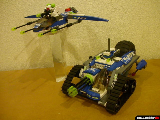 Hybrid Rescue Tank- fighter and drive sections together (posed 1)