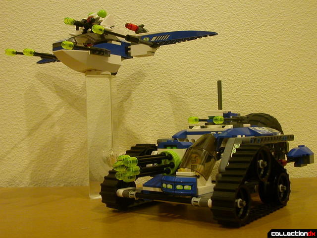 Hybrid Rescue Tank- fighter and drive sections together (posed 2)