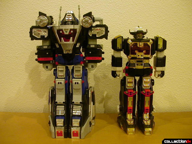 Astro-Delta Megazord combo (left) and Astro Galactic Megazord (right)