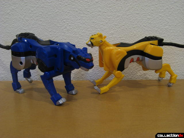Transforming Fury Megazord Set- Blue Jaguar and Yellow Cheetah (posed)