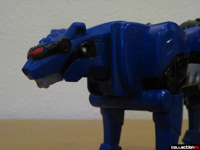 Transforming Fury Megazord Set- Blue Jaguar head detal