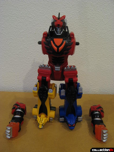 Transforming Fury Megazord Set- Jungle Pride Megazord (with arms detached)