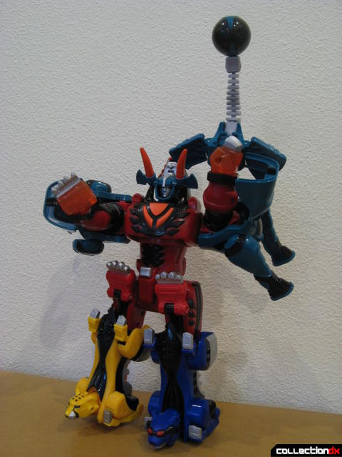 Transforming Fury Megazord Set- Jungle Pride Megazord with Elephant Power posed (2)