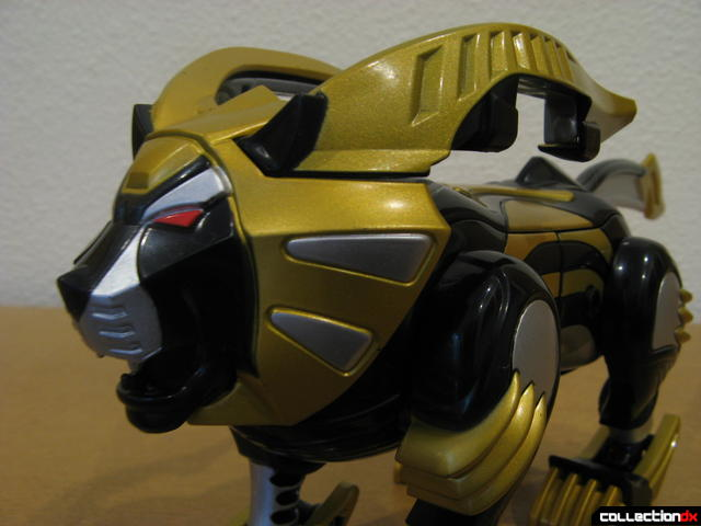 Transforming Fury Megazord Set- Lion (head detail, mouth open)