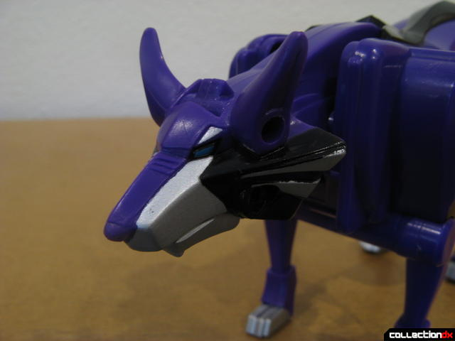 Transforming Fury Megazord Set- Purple Wolf (head detail)