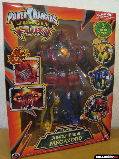 Deluxe Jungle Pride Megazord (box front)