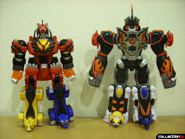 Deluxe Jungle Pride Megazord (L) and Jungle Master Megazord (R)