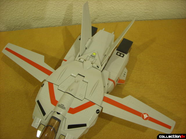 Origin of Valkyrie VF-1J Valkyrie- Fighter Mode (wings open perpendicular)