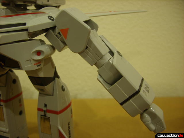 Origin of Valkyrie VF-1J Valkyrie- GERWALK Mode (left arm detail)