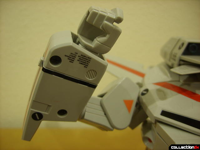 Origin of Valkyrie VF-1J Valkyrie- GERWALK Mode (right arm articulation displayed)