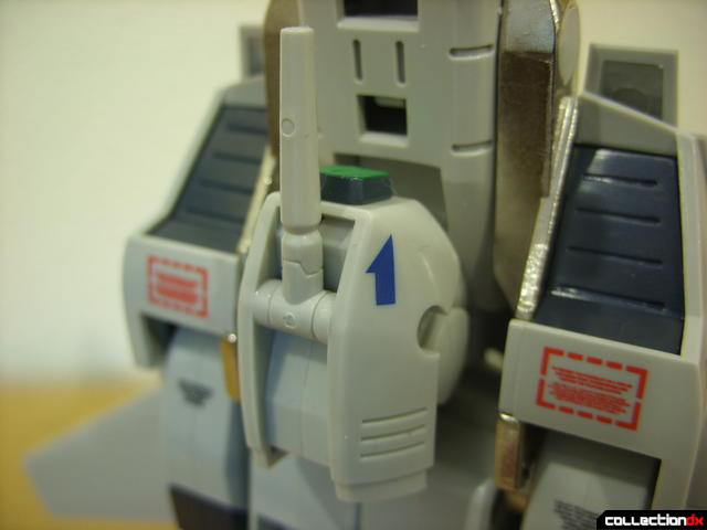 Origin of Valkyrie VF-1A Valkyrie Max ver.- Fighter Mode (laser cannon turret detail)