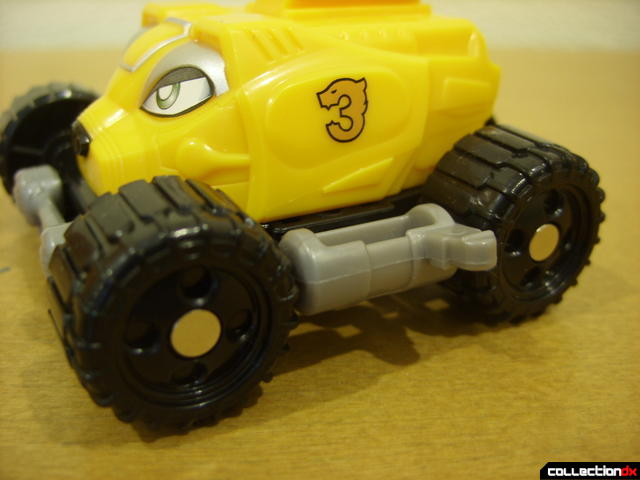 High Octane Megazord- Bear Crawler Zord Attack Vehicle (left wheels & fuel tank detail)