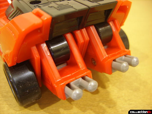 High Octane Megazord- Eagle Racer Zord Attack Vehicle (exhaust pipes detail in back)