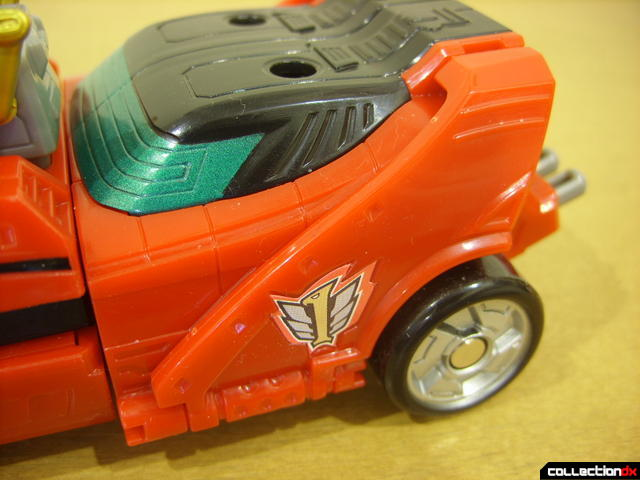High Octane Megazord- Eagle Racer Zord Attack Vehicle (spoilers and back wheels detail)