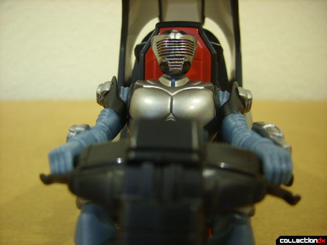 Kamen Rider Blank Knight with Advent Cycle (figure seated, eyes not glowing)