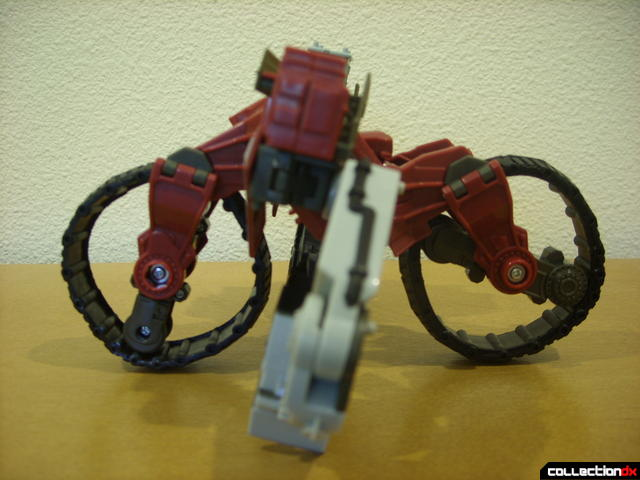 Voyager-class Decepticon Demolishor- robot mode (optional bicycle form, left profile)