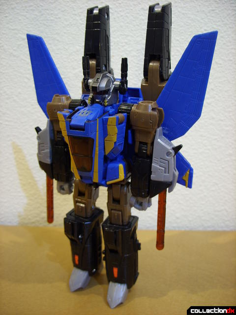 Autobot Tread Bolt with armor- robot mode (front, booster cannons retracted)