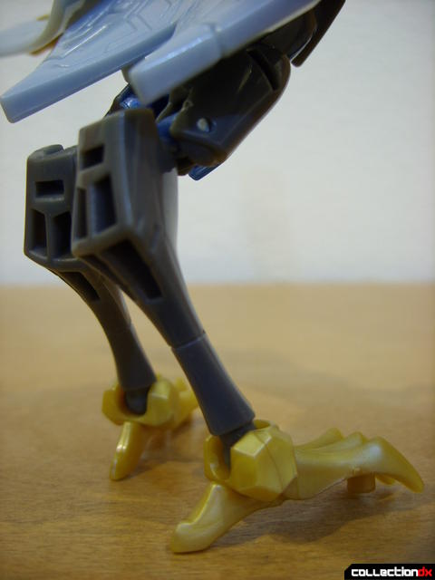 Animated Deluxe-class Autobot Swoop- beast mode (legs detail, back)