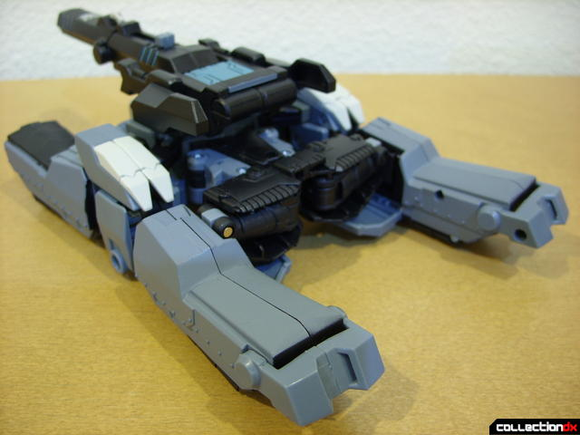 Animated Voyager-class Decepticon Shockwave- tank mode (back)