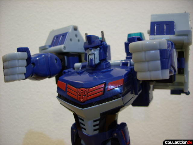Animated Leader-class Autobot Ultra Magnus- robot mode (odd shoulders for posing...)
