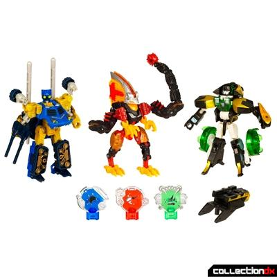 Warriors from Three Worlds (robot modes)