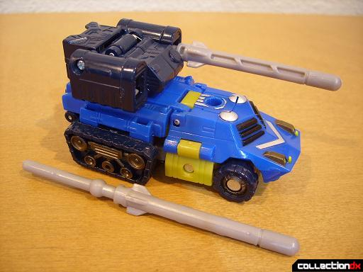 Scout-class Autobot Scattorshot- vehicle mode (right missile removed)