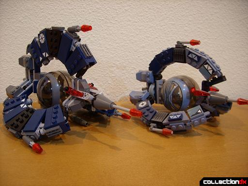 Droid Tri-Fighters- new version (L) and original version (R) (front)
