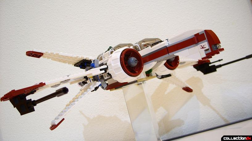 ARC-170 Starfighter (dramatic angle, S-foils open)