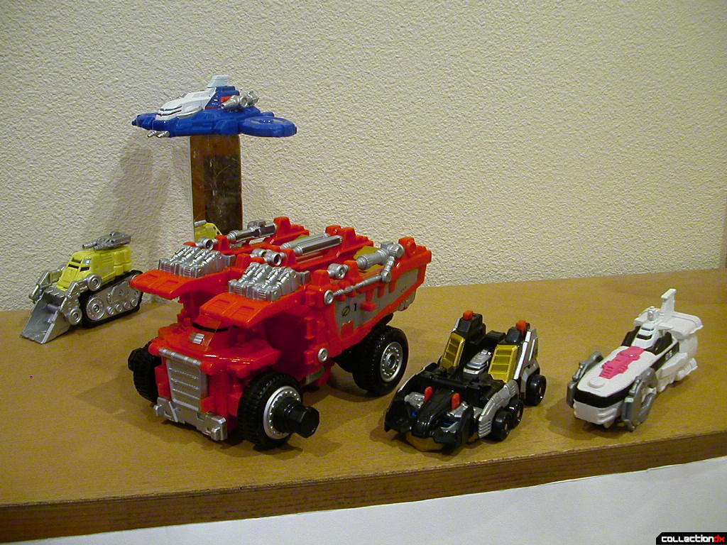 Driver Zords assembled