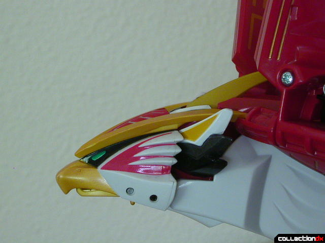 Power Animal Gao Falcon- head detail (pointing up)