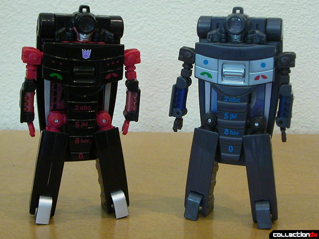 Decepticon Wite Tap V20 (left) and Autobot Speed Dial 800 (right)- both in robot mode